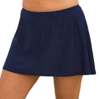 Swimsuits For All Women's Plus Size Navy Skirted Swim Bottoms