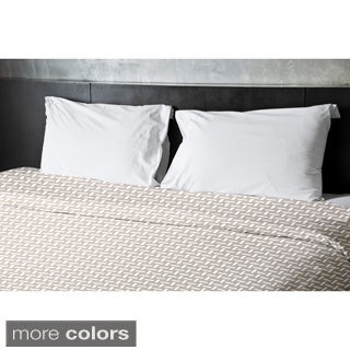 104 x 88-inch Basket Weave Print Duvet Cover