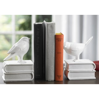 Chickadees on Books Bookends
