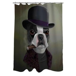Thumbprintz BT Bowler Hat Shower Curtain