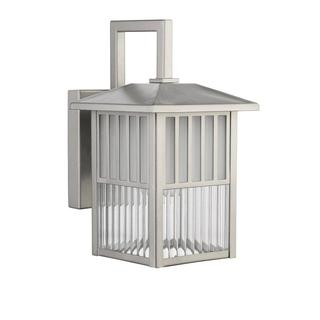 Transitional 1-light Outdoor Wall fixture in Painted Brushed Nickel