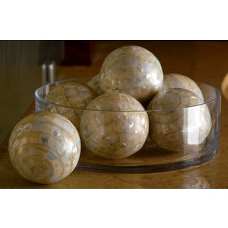 Mother of Pearl Decorative Balls (Set of 4)