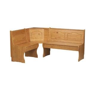 Linon Chelsea Honey Corner Bench