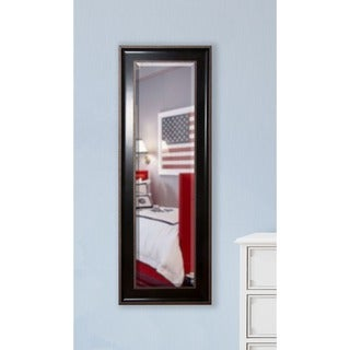 American Made Rayne Black with Silver Accent Slender Body Mirror