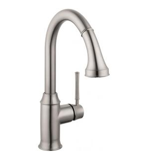 Hansgrohe Talis C Higharc Single Hole Steel Optik Kitchen faucet with Pull-down 2-spray