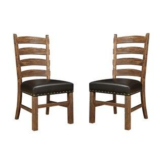 Emerald Rustic Ladderback Side Chair (Set of 2)