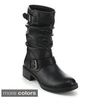 Refresh Women's 'Pace-01' Slouchy Mid-calf Boots