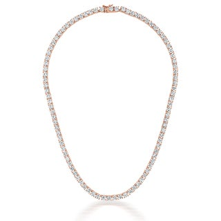 Collette Z Rose Goldplated Sterling Silver Cubic Zirconia 4mm Tennis Necklace