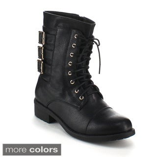 Refresh Women's 'Dason-05' Mid-calf combat Boots