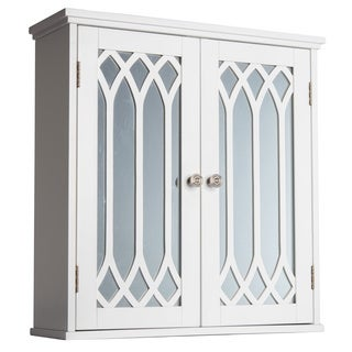 Kathy White 2-door Wall Cabinet with Mirror