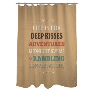Thumbprintz Life is For Shower Curtain