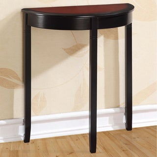 Linon Camden Black Cherry Demi-lune Console Table