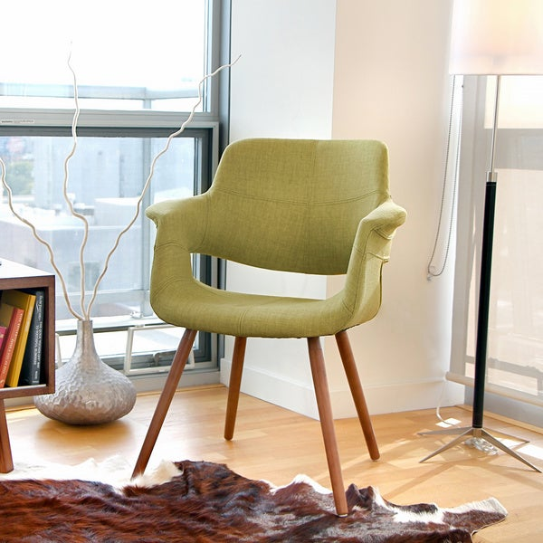 vintage flair mid century modern accent chair overstock shopping