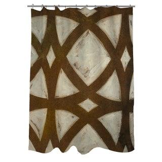Thumbprintz Circle Overlay I Shower Curtain
