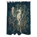 Thumbprintz Sea Horse Vignette Shower Curtain