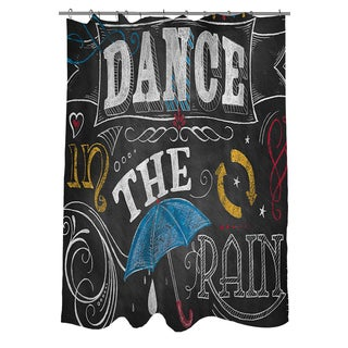 Thumbprintz Chalkboard Dance in the Rain Shower Curtain