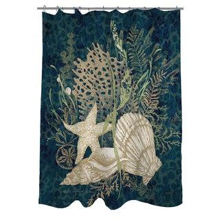 Thumbprintz Sea Shells Vignette Shower Curtain