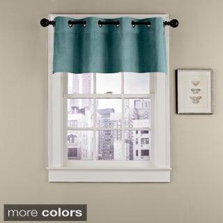 Grand Luxe Velvet Soft Luxury Grommet Window Valance