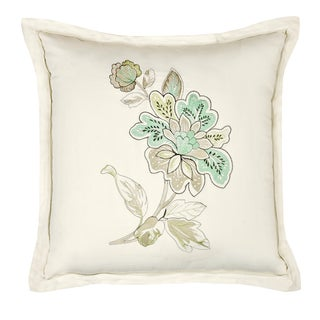 Veratex Jardin Embroidered 18-inch Throw Pillow