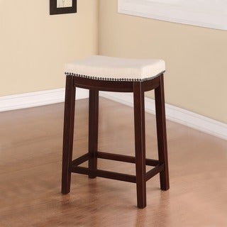 Linon Allure Fabric Top Counter Stool