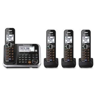 Panasonic KX-TG6844B DECT 6.0 1.90 GHz Cordless Phone - Black