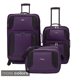 U.S. Traveler by Traveler's Choice Bridgetown 3-piece Expandable Luggage Set