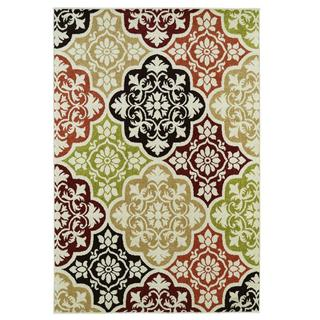 Orange Baroque Indoor/outdoor Area Rug (7'8 x 9'10)