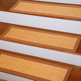 Natural Area Rugs Handcrafted Oscar Natural Fiber Sisal Carpet Stair Tread ('9 x 2'5) (Set of 13)