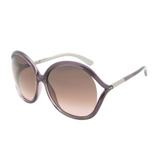 Tom Ford Women's 'Rhi FT0252 83T' Purple Round Sunglasses