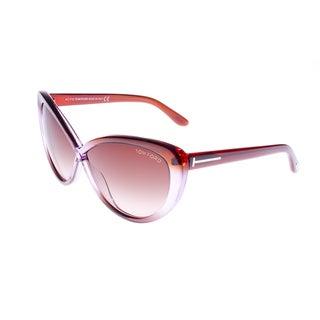 Tom Ford Women's 'Madison TF253 50Z' Purple Cat-eye Sunglasses