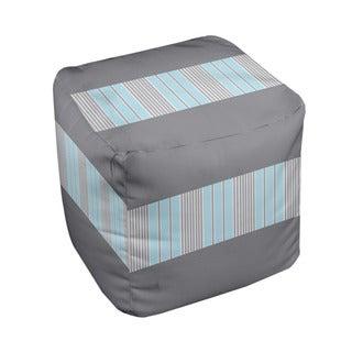 18 x 18-inch Trie-tone Classic Block Stripe Decorative Pouf