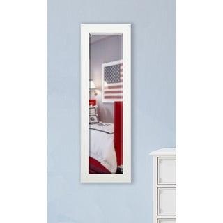 American Made Rayne White Satin 21 x 60 Slender Body Mirror