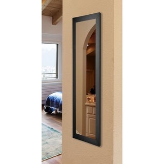 American Made Rayne Black Satin 21 x 60 Slender Body Mirror