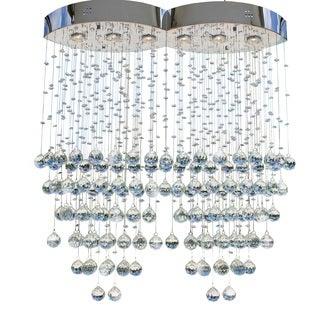 Oasis 6-light Chrome Crystal Rain Chandelier