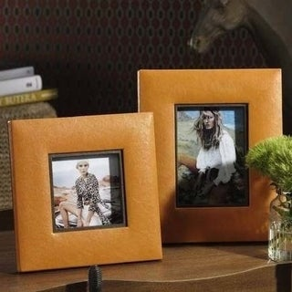Equestrian Faux Leather Square Photo Frame