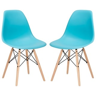 Slope Wood Leg Dining Side Chair (Set of 2)