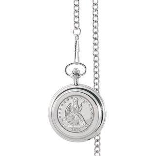 American Coin Treasures Silver Seated Liberty Half Dollar Pocket Watch