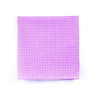 Southern Gents 'Roosevelt' Purple/ White Checkered Pocket Square