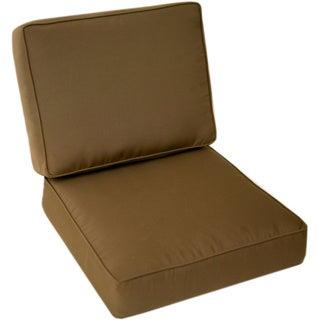 Good Trijaya Living Sunbrella Universal Patio Club Chair Cushion Cocoa