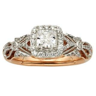 Sofia 14k Rose Gold 1ct TDW Vintage Princess Cut Diamond Ring (H-I, I1-I2)