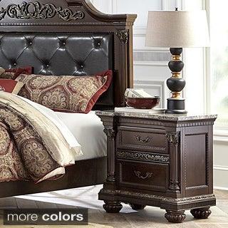 Roxbury Faux Marble Top 2-drawer Wood Nightstand