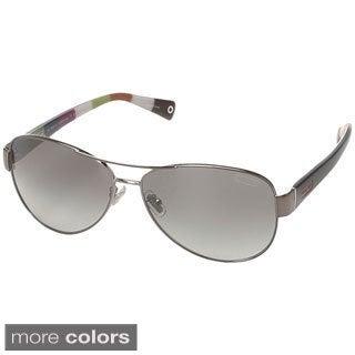 Coach Women's 'L012 Kristina HC7003' Metal Aviator Sunglasses