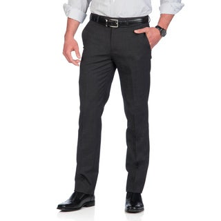 Kenneth Cole New York Men's Grey Tic Wool Blended Pants