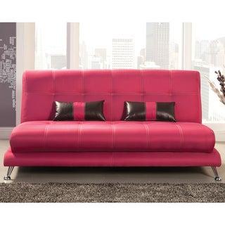 Furniture of America Eissa Modern Fuchsia Sofa