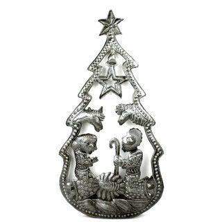 Christmas Tree Nativity Wall Art (Haiti)