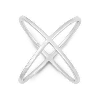 La Preciosa Sterling Silver Criss-Cross X Ring