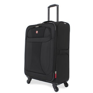 Wenger Lightweight Black 24-inch Medium Spinner Upright Suitcase