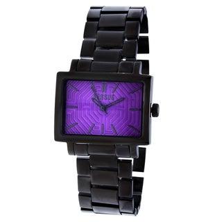 Versus by Versace Women's 3C63100000 'Dazzle' Purple Dial Black Watch