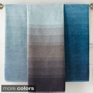 Yarn-dyed Ombre Jacquard 6-piece Towel Set