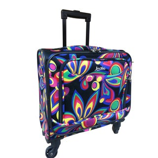 Jourdan 15-inch Fashion Under-seat Spinner Carry-on Luggage